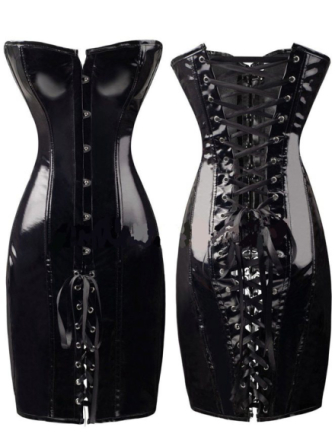 A9005-1 Leather Corset Dress