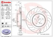 Bremseskive BREMBO 09.A300.11