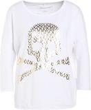 True Religion BOXY SKULL Tshirt långärmad white