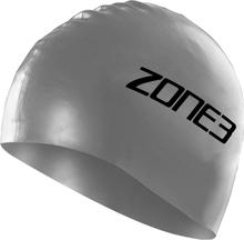 Zone3 Silicone Swim Cap silver 2019 Badehetter