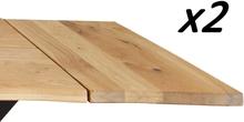 Torino - Ansteckplatten für Esstisch, Eiche massiv, Naturöl
