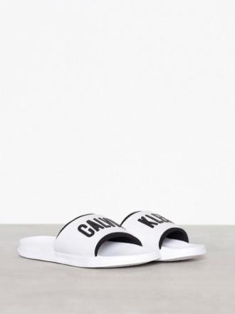 Calvin Klein Jeans Slide Sandaler & flip flops Hvit