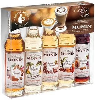 Kaffeset Monin syrups 5 x 5 cl