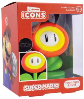 Super Mario - Fire Flower Light -Bordlampe - flerfarget