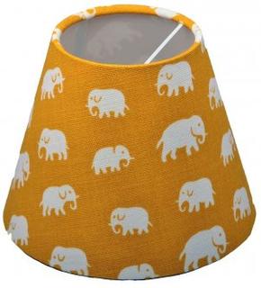 Lampskärm Elefant Gul, lin