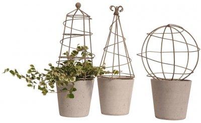 Eldgarden Växtstöd krukväxter (Modell: Pyramid)