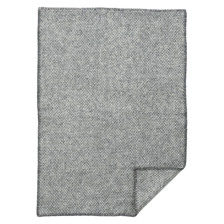 Domino Babyfilt, 100% ekologisk lammull Dark grey Klippan Yllefabrik
