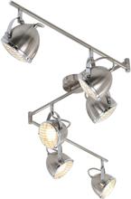 vidaXL Spotlight med 6 lampor silver GU10