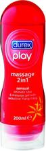 Durex Play Massage 2-in-1: Sensual, Glidmedel/Gel, 200 ml