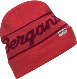 Bergans Bergans Logo Beanie Dame luer Rød OneSize