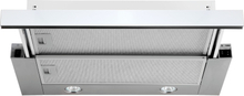 Utdragbar köksfläkt Nogran vit glas 50cm/60cm/90cm + LED