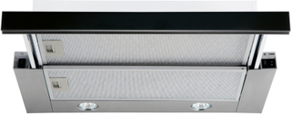 Utdragbar köksfläkt Nogran svart glas 50cm/ 60 cm + LED