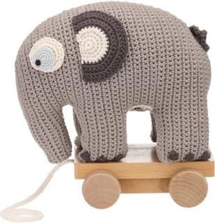 Sebra virkad leksak elefant Babyleksaker