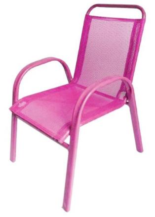 Barnestol i rosa utførelse - kan stables