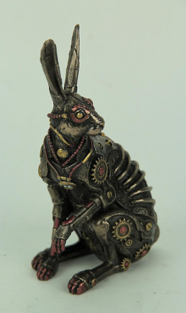Veronese Design Steampunk stil Jack Rabbit bronse ferdig statuen On...