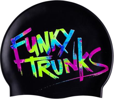 Funky Trunks Silicone Badehette Herre Svart Onesize 2019 Badehetter