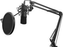 Svive Streamingpaket, Mikrofon, Mikrofonarm, POP-filter, USB - Svart