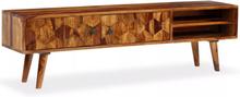 vidaXL TV-bänk massivt sheshamträ 140x30x40 cm
