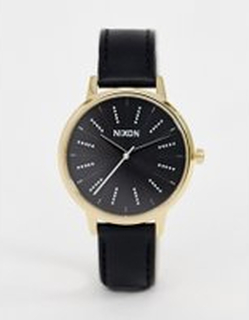 Nixon Kensington Leather Watch 37mm - Black