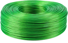 5 Meter Steel wire PVC Coated Flexible Wire Rope Cable Green Stainless Steel Clothesline Grape shed Diameter 2mm 2.5mm 3mm 3.5mm