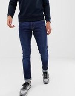 Emporio Armani - J06 - Mellanblå slim jeans med stretch - Blå