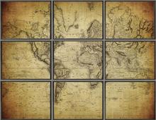 Tavla The World världskarta 180x120 cm - Svart ram