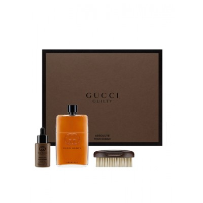 Gucci Guilty Absolute Pour Homme EDP & Beard Oil & Brush 150 ml + 30 ml + 1 kpl