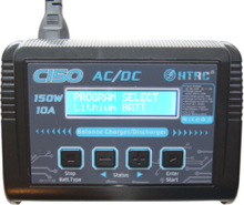 HTRC C150 LiPo Laddare/Charger RC Battery Balance Discharger 150W 10A 1-6S AC/DC for NiCd Li-ion Life NiMH LiHV PB Smart Battery