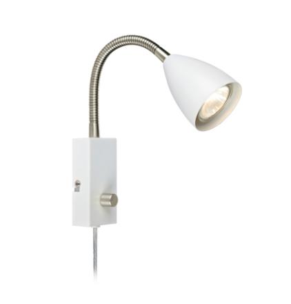 Ciro Flex Hvid/Stål Væglampe - Lampan