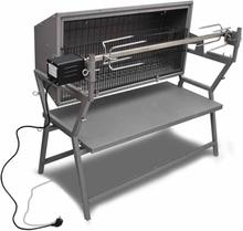 vidaXL roterende grillspyd i jern og rustfrit stål