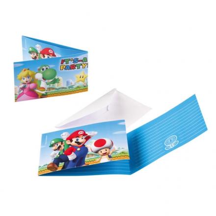"Super Mario slikposer, 16,5 x 23 (6,5 x 9""), 8 stk - TheFairytaleCompany"