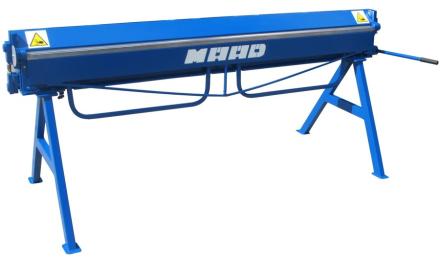MAAD ZG-2000/1.2 ZAGINARKA GIĘTARKA KRAWĘDZIARKA DEKARSKA DO BLACHY Z CIĘCIEM MAAD ZG-2000/1.2 mm