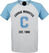 Sesam Stasjon - Cookie Monster - Est. 1969 -T-skjorte - grå-blå