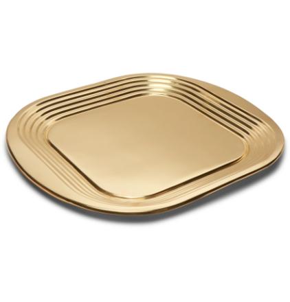Form Brass Tray - Gold
