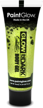 Glow in the Dark glitter gelé for face and krop Guld