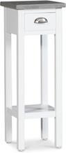 Sängbord Hugo Small - 70 cm (vit med cementtopp)