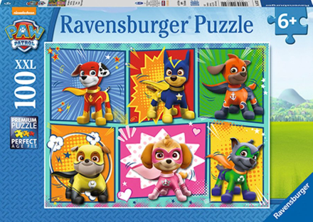 Paw Patrol puslespill 100 brikker