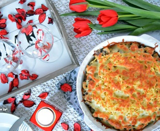 recipe: zapiekanka makaronowa z mięsem mielonym i pieczarkami [14]