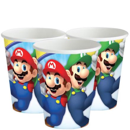 Super Mario - Pappbeger 8pk
