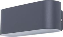 Smartwares Vägglampa LED upp/ner 14 W antracit GWI-002-HS