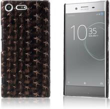 Sony Xperia XZ Premium Deksel laget av plastikk og kunstlær - Stjerner brunt