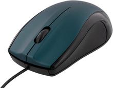 DELTACO trådet optisk mus, 1200 DPI, Blå
