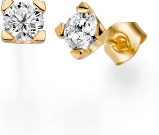 Örhängen 18k guld Seine 0,20 ct diamant