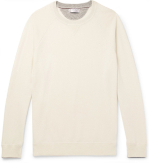 Contrast-tipped Cashmere Sweater - Cream