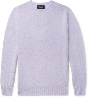 Birth Of The Cool Brushed Virgin Wool Sweater - Purple