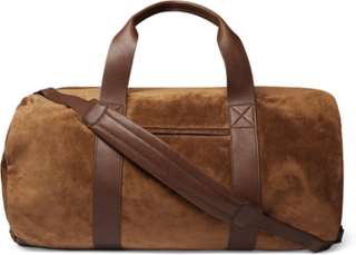 Suede And Full-grain Leather Holdall - Tan