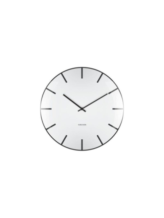 Glass Dome Wall Clock