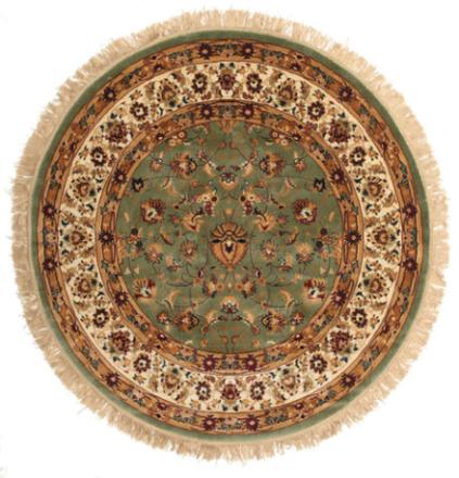 Sadeh - Grön matta Ø 150 Orientalisk, Rund Matta