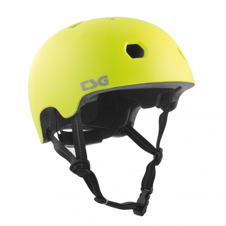 TSG Meta Solid Color Satin Acid Yellow Hjelm