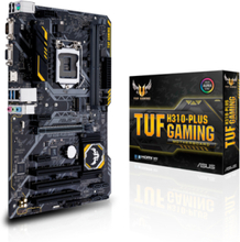 TUF H310-PLUS GAMING Moderkort - Intel H310 - Intel LGA1151 socket - DDR4 RAM - ATX